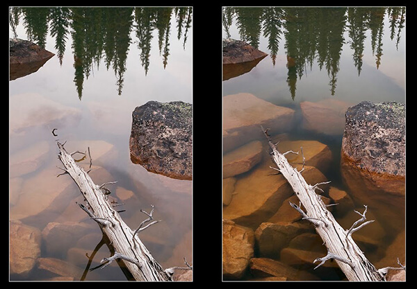 Ejemplo lente polarizada