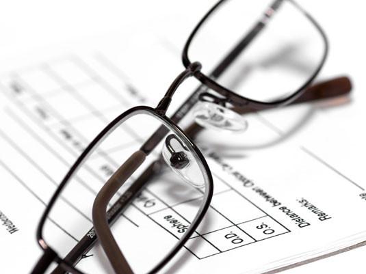 Receta de las gafas