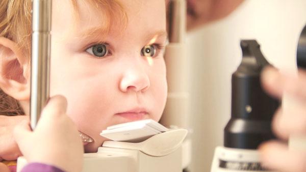 Revisión de la vista en niños