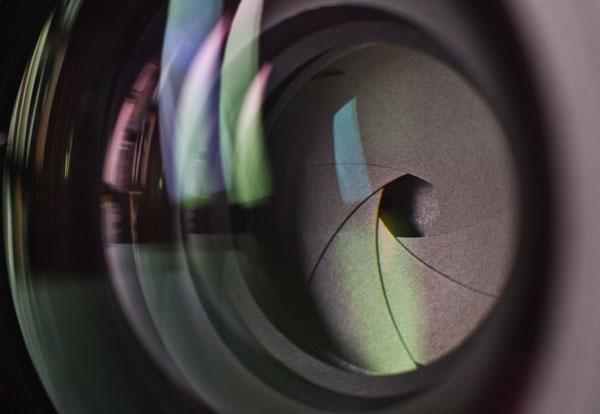 Diafragma de cámara de fotos