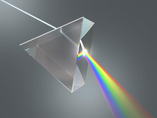 Efecto dispersión luz blanca