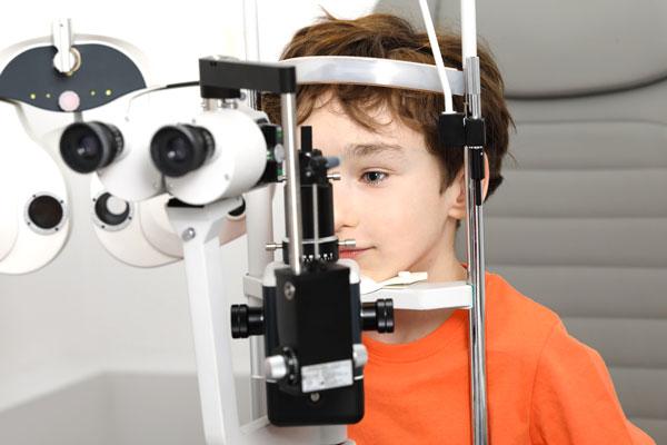 Revisión vista de niños